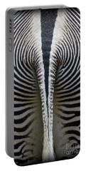 Portable Battery Charger featuring the photograph Zebra Stripes by Heiko Koehrer-Wagner