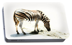Portable Battery Charger featuring the photograph Zebra Stripes by Stephen Mitchell