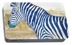 Zebra - Stylised Pop Art Poster Portable Battery Charger by Kim Wang
