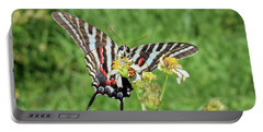 Zebra Swallowtail And Ladybug Portable Battery Charger