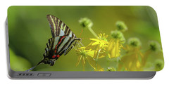 Portable Battery Charger featuring the photograph Zebra Swallowtail Butterfly by Lori Coleman