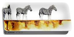 Zebra Trio - Original Artwork Portable Battery Charger