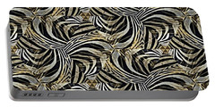 Zebra Vii Portable Battery Charger by Maria Watt
