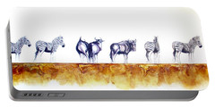 Zebras And Wildebeest 2 Portable Battery Charger