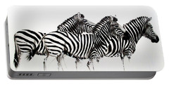 Zebras - Black And White Portable Battery Charger