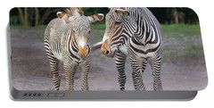 Portable Battery Charger featuring the photograph Zebras by Dart and Suze Humeston