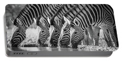 Zebras Drinking Portable Battery Charger