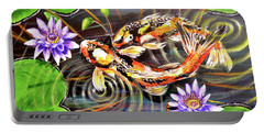 Zen Koirala Ripple Dance Portable Battery Charger by Patricia L Davidson