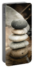 Zen Stones Iv Portable Battery Charger by Marco Oliveira