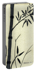 Zen Sumi Antique Bamboo 1a Black Ink On Fine Art Watercolor Paper By Ricardos Portable Battery Charger