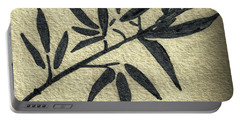 Zen Sumi Antique Botanical 4a Ink On Fine Art Watercolor Paper By Ricardos Portable Battery Charger