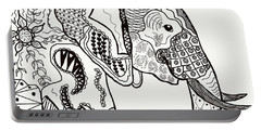 Zentangle Elephant Portable Battery Charger