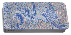 Zentangle Elephant-oil Portable Battery Charger