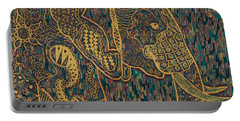 Zentangle Elephant-oil Gold Portable Battery Charger
