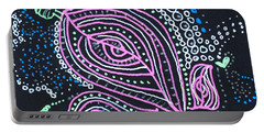 Zentangle Flower Portable Battery Charger