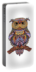 Zentangle Owl Portable Battery Charger