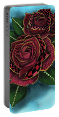 Zentangle Tattoo Rose Colored Portable Battery Charger