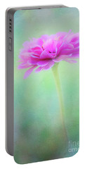 Painted Pink Zinnia Portable Battery Charger