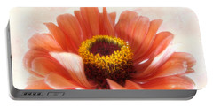 Portable Battery Charger featuring the photograph Zinnia Bright by Louise Kumpf