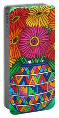 Zinnia Fiesta Portable Battery Charger