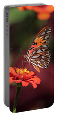 Zinnia With Butterfly 2668 Portable Battery Charger