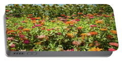 Zinnias And Sunflowers Portable Battery Charger