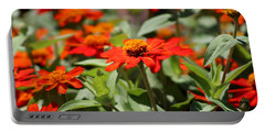 Zinnias In Autumn Colors Portable Battery Charger