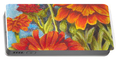 Zinnias Portable Battery Charger