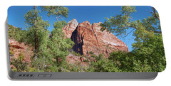 Portable Battery Charger featuring the photograph Zion Contrasts by John M Bailey