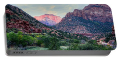 Zion National Park Portable Battery Charger by Charlotte Schafer