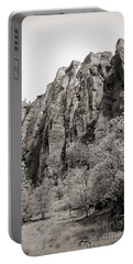 Zion National Park Sepia Tones  Portable Battery Charger