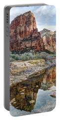Zions National Park Angels Landing - Digital Painting Portable Battery Charger