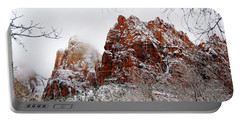 Zion's Peaks Framed Portable Battery Charger by Daniel Woodrum