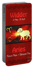 Zodiac Sign Aries - Widder Portable Battery Charger
