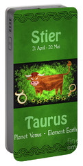 Zodiac Sign Taurus - Stier Portable Battery Charger