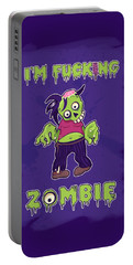 Portable Battery Charger featuring the digital art Zombie by Julia Art