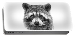 046 Zorro The Raccoon Portable Battery Charger