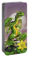 Zucchini Dragon Portable Battery Charger by Stanley Morrison