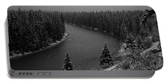 A View From The Side Of The Bow Valley Parkway, Banff National P Portable Battery Charger