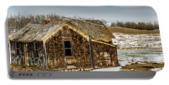 Abondened Old Farm Houese And Estates Dot The Prairie Landscape, Portable Battery Charger