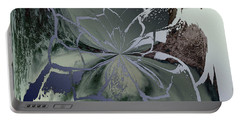 Abstract Bloom Portable Battery Charger
