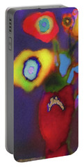 Abstract Floral Art 367 Portable Battery Charger