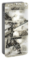 Abstract Triptych Portable Battery Charger