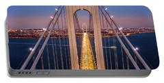 Aerial View Of Verrazzano Narrows Bridge Portable Battery Charger