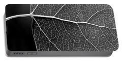 Aspen Leaf Veins Portable Battery Charger