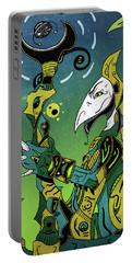Portable Battery Charger featuring the digital art Birdman by Sotuland Art
