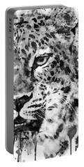 Black And White Half Faced Leopard Portable Battery Charger