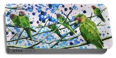Blue Dot Parakeets Portable Battery Charger