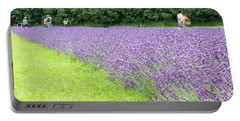 Blue Lavender Portable Battery Charger