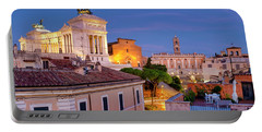 Portable Battery Charger featuring the photograph Capitoline Hill by Fabrizio Troiani